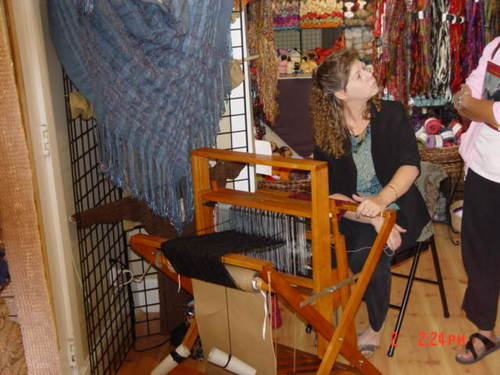 Kelly Teaching Weaving