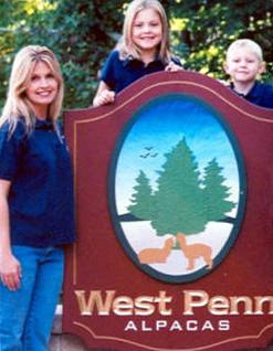 Debbie, Lexi & Wyatt West Penn Alpacas.