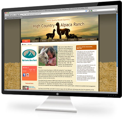 Having your own farm website is easy with an Openherd virtual farm plan