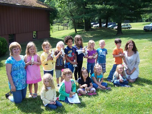 A local Pre-K class enjoying time at the ranch!