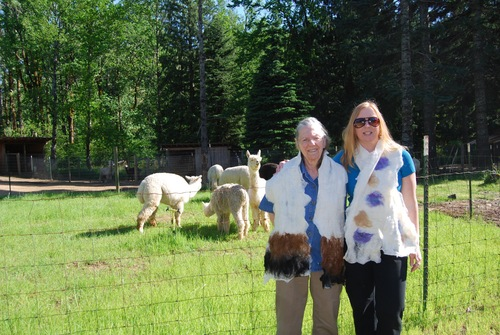 Jackie and Karla on the farm