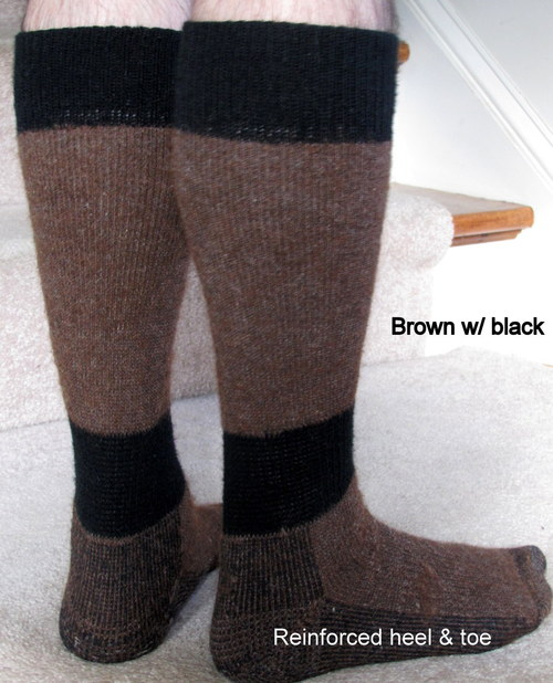Brown w/ black
