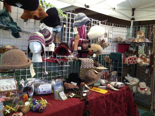 Alpaca Product Vendor at the Honey Bee Festival in California