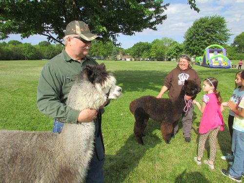Alpacas soft touch for Baum students