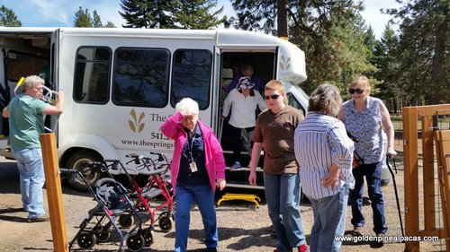 Visitors from The Springs Retirement Home in The Dalles