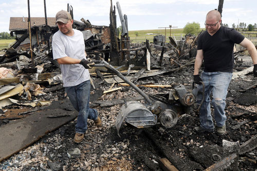 Fire consumes home on alpaca farm