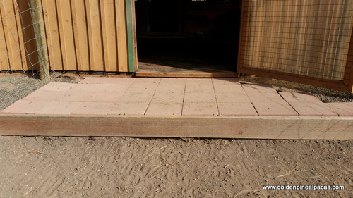 Pavers at one of barn entrances