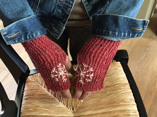 My most popular fingerless mitts