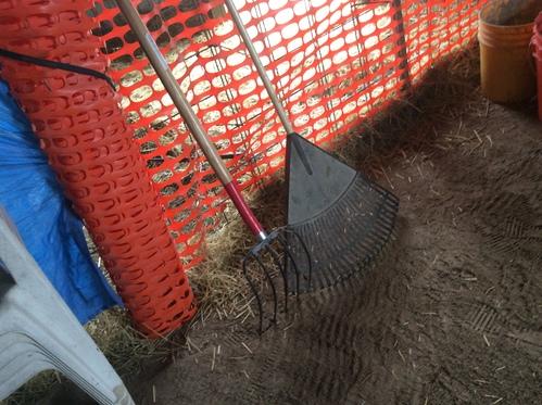 Handy dandy rake and pitchfork...