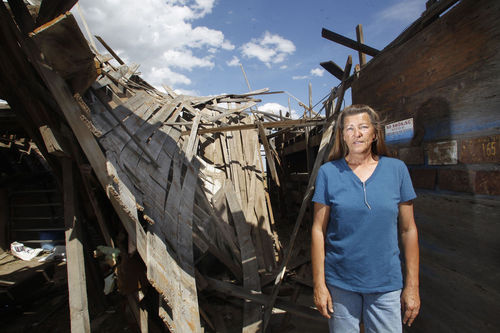 Tornado destroys Carpenter barn, spares farm animals