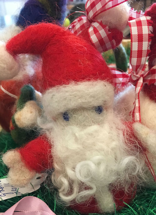 Needle Felted Santa