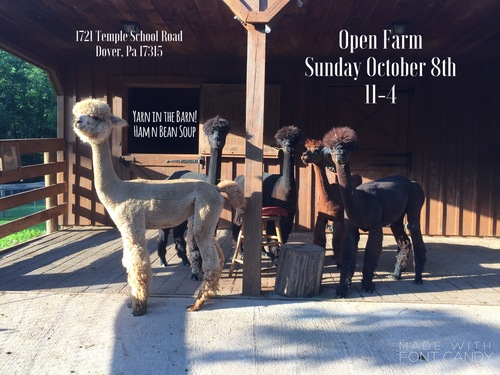 Open Farm day! Oct 8, 2017