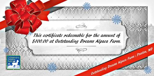 $100 Certificate