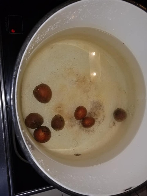 Into the pot they go