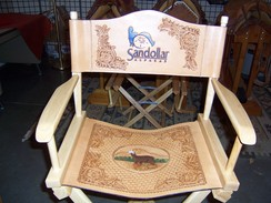Photo of Leather Art - Logo Director Chair