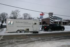 Winter snowmobile festival