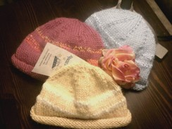 Photo of Handknit Baby Beanies