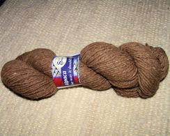 Photo of Natural Brown Fine Sport 4ply Yarn