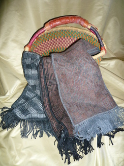 Photo of Reversable Woven Alpaca Scarf