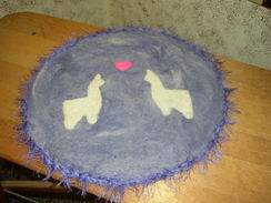 Photo of Needle felted chair pad