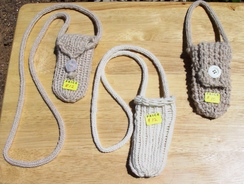 Photo of Cell Phone Holders-Knit Alpaca 