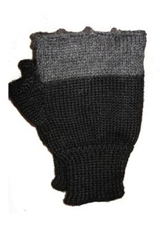 Photo of Men's Two Tone Fingerless Gloves