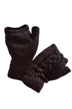Photo of Women's Single Cable Fingerless Gloves