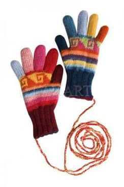 Photo of Lanart Kid's Striped Reversible Gloves