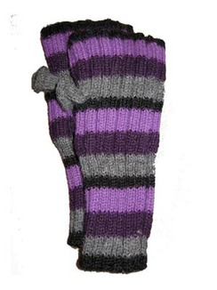 Photo of Lanart Women's Striped Fingerless Gloves
