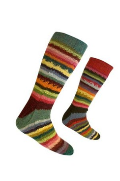 Photo of Lanart Ladies Reversible Socks / Stripes