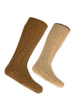 Photo of Lanart Ladies Reversible Socks Natural
