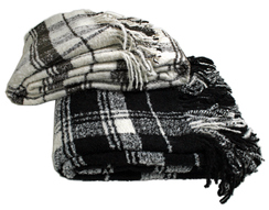 Photo of RM Alta Boucle' Handwoven Plaid Throw