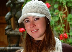 Photo of Classic Alpaca Cable Brimmed Hat