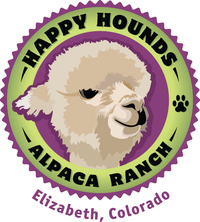 HAPPY HOUNDS ALPACA RANCH - Logo