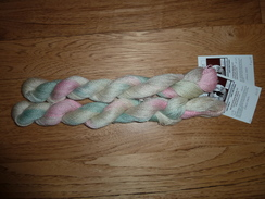 Photo of Hand-dyed Suri Alpaca Yarn - Pastels