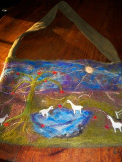 Photo of HANDFELTED,HAND DYED ALPACA POCKET BOOK