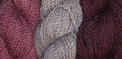 Photo of Alpacas from MaRS Burgundy Hand-dye yarn