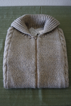 Photo of Women's Oatmeal zip cardigan