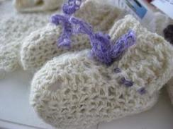 Photo of Baby Booties, crocheted