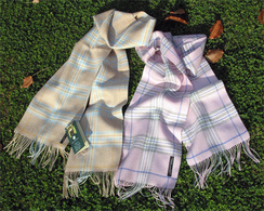 Photo of 100% Baby Alpaca Plaid Scarf