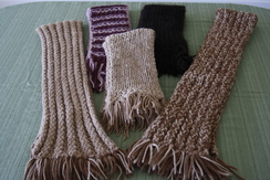 Photo of Hand knitted winter scarves