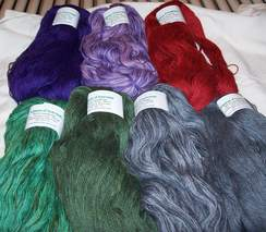 Photo of Custom Dyed Suri/Merino Yarn