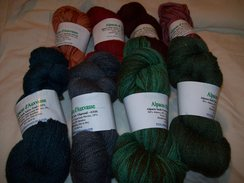 Photo of Custom Dyed Alpaca Sock Yarn Blend