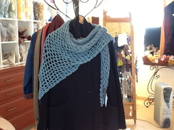 Photo of Teal Blue Three Corner Shawl