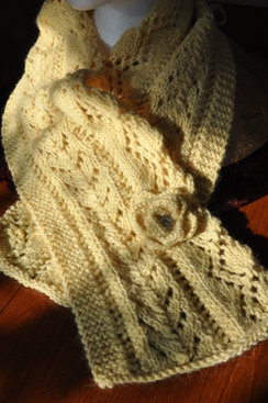 Photo of Alpaca Lace Scarf with Pin