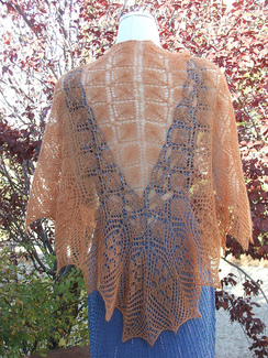 Photo of Ethereal Shawl-copper lace weight suri
