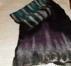 Photo of wet-felted shawl
