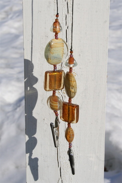 Photo of Beaded number holder (earth tones)