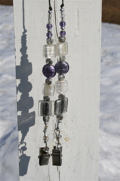 Photo of Beaded number holder (pale purple)