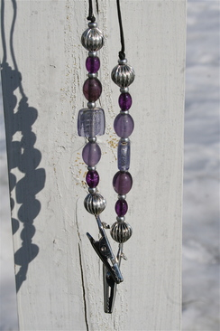 Photo of Beaded number holder (purples)